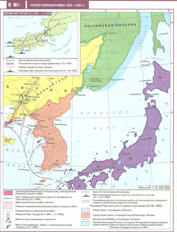 русско японская война даты события итоги таблица